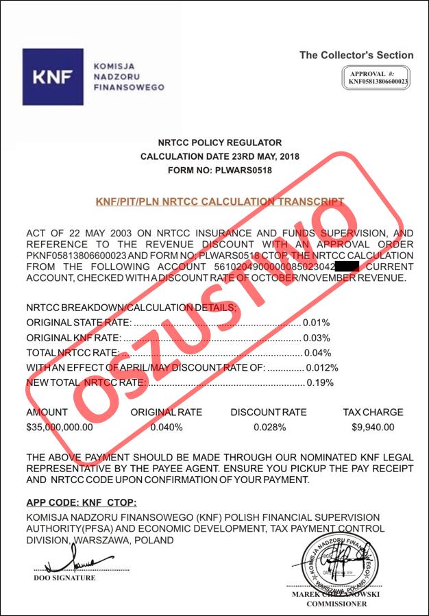 Takie dokumenty są rozsyłane przez oszustów - ostrzega KNF /Komisja Nadzoru Finansowego /