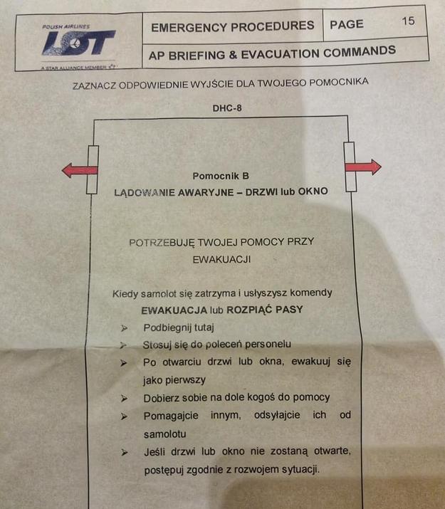 Takie instrukcje dostali pasażerowie, fot. JPK /Gorąca Linia RMF FM