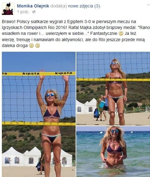 Takie zdjecia na swoim profilu opublikowała Monika Olejnik /Facebook/Printscreen /INTERIA.PL
