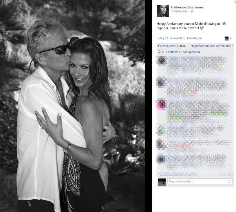 Takie zdjęcie Catherine Zeta Jones opublikowała na Facebooku /Printscreen/facebook/Catherine Zeta Jones /INTERIA.PL