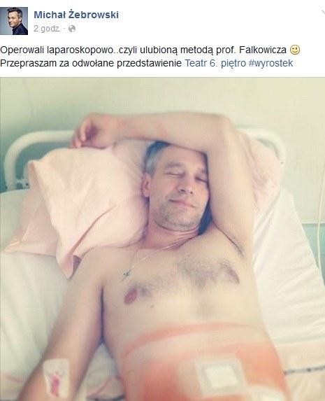Takie zdjęcie opublikował na swoim profilu Michał Żebrowski /Screen z Facebook.com /INTERIA.PL