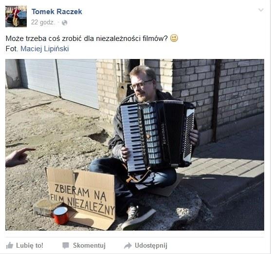 Takie zdjęcie Tomasz Raczek zamieścił na Facebooku/Printscreen /Maciej Lipiński/Printscreen /INTERIA.PL