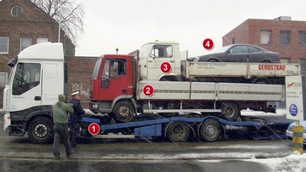 Takim zestawem kierował polski kierowca / Fot: Polizei /
