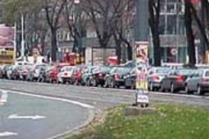 Taksówkarze zablokowali centrum Warszawy