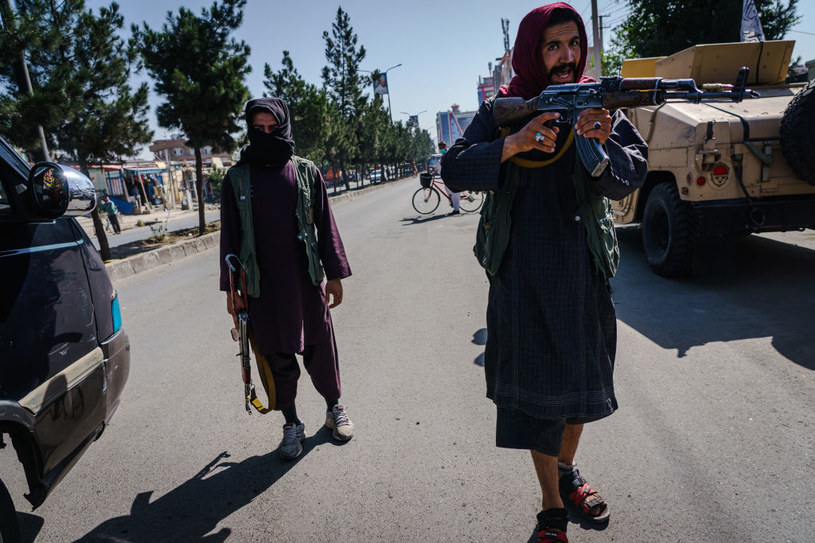 Talibowie podczas manifestacji kobiet 8 września /MARCUS YAM / LOS ANGELES TIMES /Getty Images