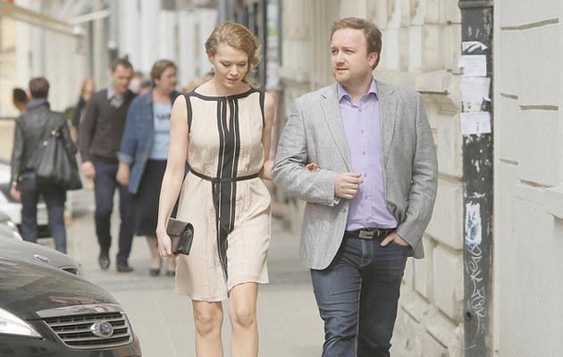 Tamara Arciuch i Bartłomiej Kasprzykowski są ze sobą bardzo szczęśliwi! /Baranowski /AKPA