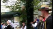 Tancerze ludowi udzielali lekcji na ulicach Lublina