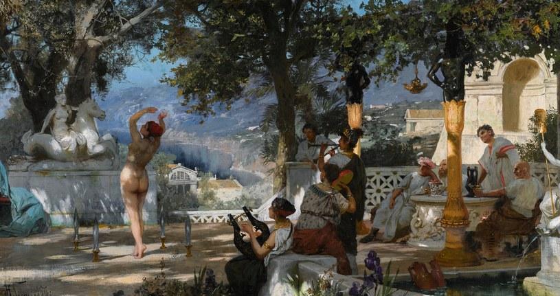 """""""Taniec wśród mieczów"""", Henryk Siemiradzki. Zdjęcie ze strony Sotheby's /"""