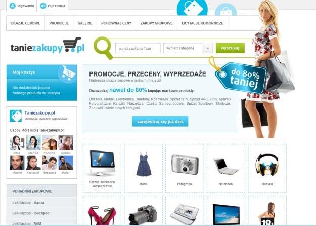 Taniezakupy.pl - strona główna. Należy na nią uważać /Internet