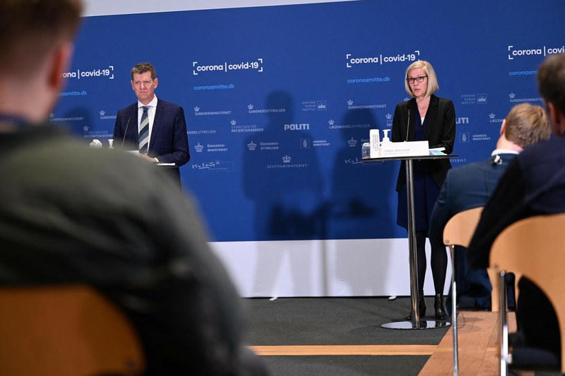 Tanja Erichsen i Soeren Brostroem ogłaszają rezygnację ze stosowania szczepionki AstraZeneca /PHILIP DAVALI/AFP/East News /East News