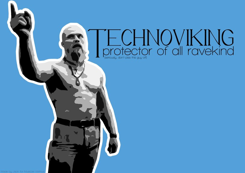 Tapeta komputerowa wykonana przez fana Technovikinga /INTERIA.PL