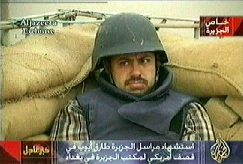 Tareq Ayyoub - dziennikarz telewizji Al Jazeera, który zginął w 2003 roku w Bagdadzie /East News