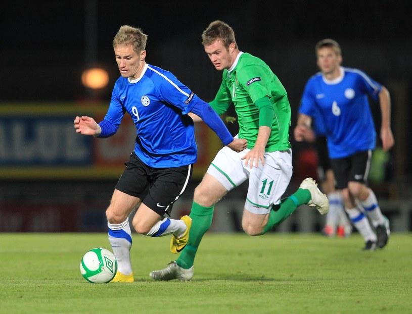 Tarmo Kink w meczu reprezentacji Estonii z Irlandią Północną /AFP