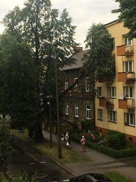 Tarnów po przejściu burzy /Paweł Gawroński /Gorąca Linia RMF FM