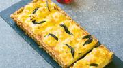 Tarta z kalafiorem, orzechami włoskimi i serem wędzonym