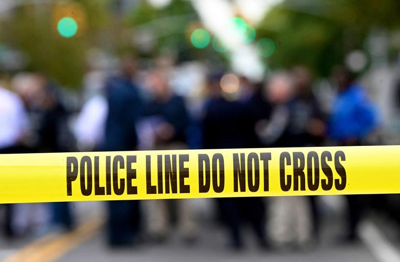 Taśma policyjna, zdjęcie ilustracyjne /JOHANNES EISELE/AFP /AFP