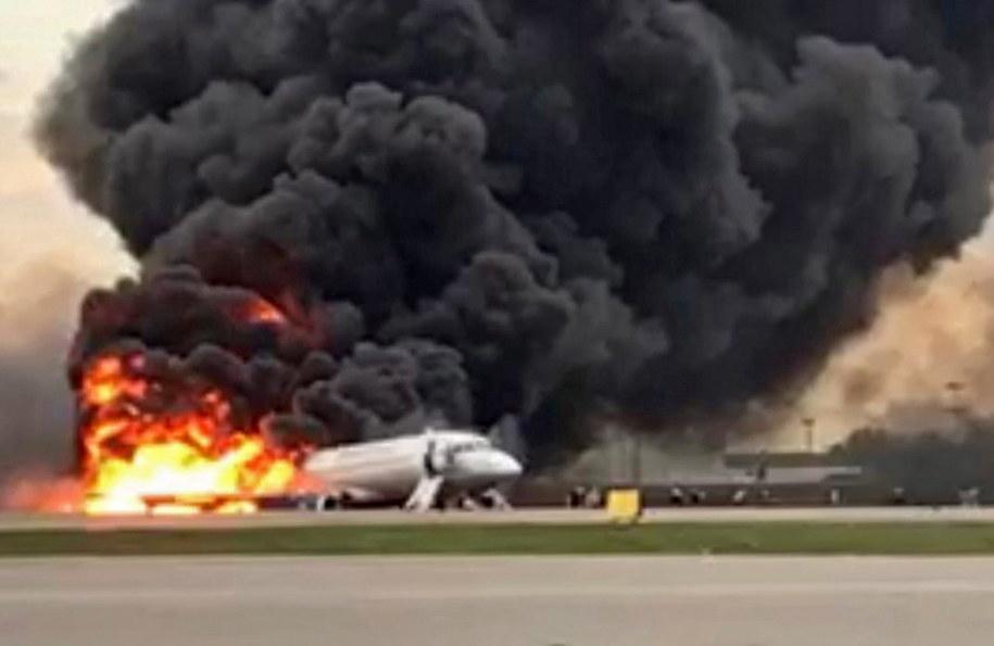 TASS: W awaryjnym lądowaniu samolotu w Moskwie zginęło 13 osób /Russian Investigative Committee / HANDOUT /PAP/EPA