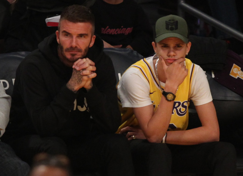 Tata David Beckham na pewno cieszy się szczęściem swojego syna /London Entertainment / SplashNews.com/East News /East News