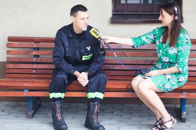 Tata Kacpra - pan Adam Ścisłowicz - w rozmowie z dziennikarką RMF FM Magdaleną Wojtoń /Maciej Nycz /RMF FM