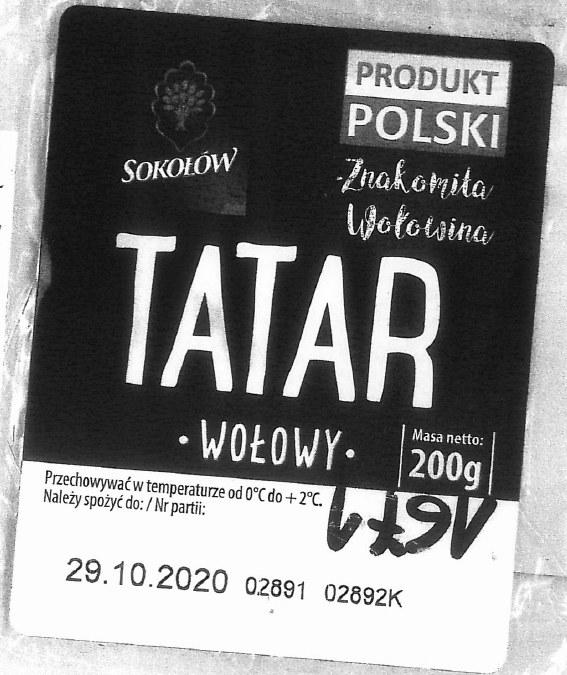 Tatar wołowy firmy Sokołów / zdj.: gov.pl /RMF24