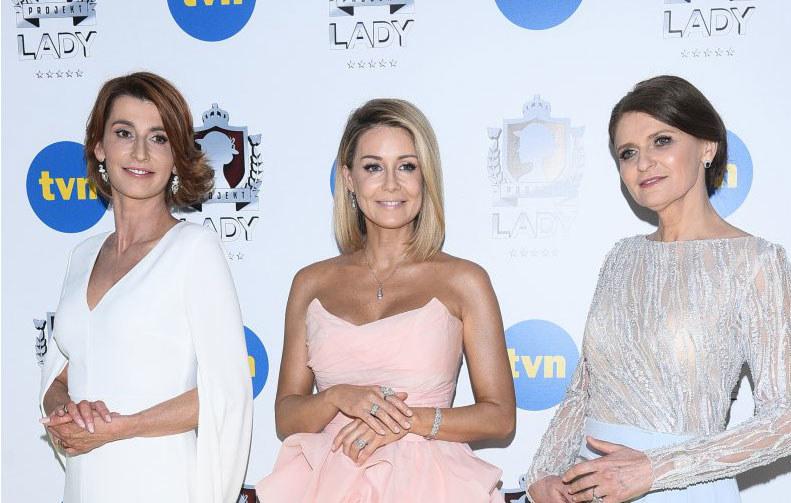 Tatiana Mindewicz, Małgorzata Rozenek-Majdan, Irena Kamińska-Radomska. Projekt Lady /Andras Szilagyi /MWMedia