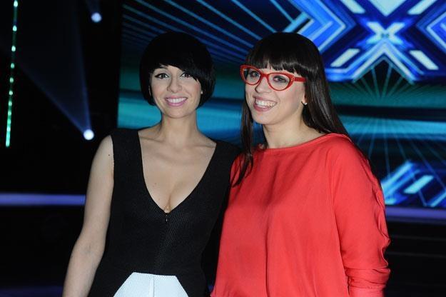 "Tatiana Okupnik i Anna Tacikowska w ""X Factor"" /MWMedia"