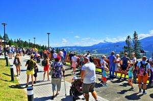 Tatry: Tłumy na Gubałówce, kolejki pod szczytami. Rekordowy ruch turystyczny w górach