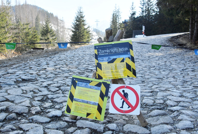Tatrzański Park Narodowy nadal pozostaje zamknięty dla turystów /pawel murzyn /East News