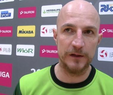 TAURON 1. Liga. Trener Bartłomiej Rebzda komentuje wygraną z BAS Białystok. Wideo