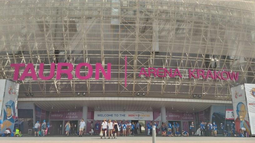 Tauron Arena przed spotkaniem papieża z wolontariuszami /INTERIA.PL