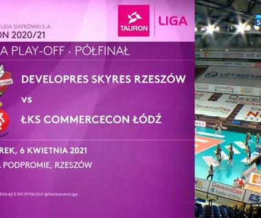 TAURON Liga. Developres Rzeszów - ŁKS Commercecon Łódź 3:1. Skrót meczu (POLSAT SPORT). Wideo