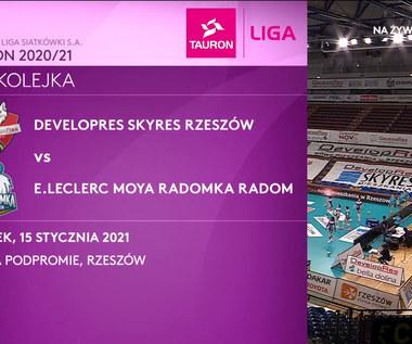 TAURON Liga. Developres SkyRes Rzeszów - E.LECLERC MOYA Radomka Radom 3-1 (POLSAT SPORT). Wideo