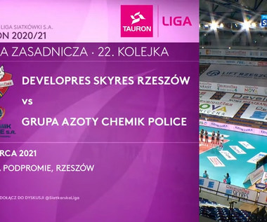 TAURON Liga. Developres SkyRes Rzeszów – Grupa Azoty Chemik Police 3:1. Skrót meczu (POLSAT SPORT). Wideo