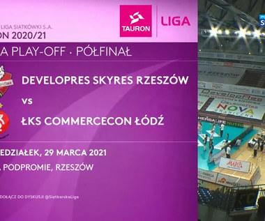 TAURON Liga. Developres SkyRes Rzeszów – ŁKS Commercecon Łódź 0:3. Skrót meczu (POLSAT SPORT). Wideo