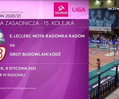TAURON Liga. E.Leclerc Moya Radomka Radom – Grot Budowlani Łódź 3-1. Skrót meczu (POLSAT SPORT). Wideo