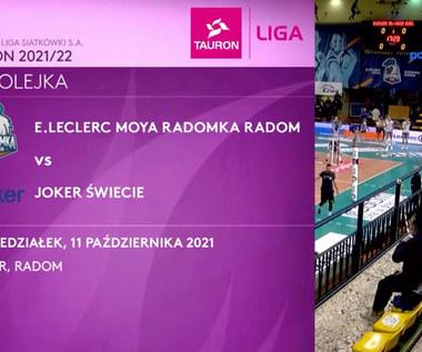 Tauron Liga. E.Leclerc Moya Radomka Radom - Joker Świecie. Skrót meczu. WIDEO (Polsat Sport)