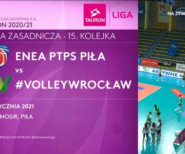 TAURON Liga. Enea PTPS Piła - #Volley Wrocław 0-3. Skrót meczu (POLSAT SPORT). Wideo