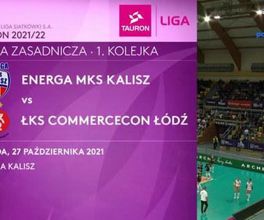 Tauron Liga. Energa MKS Kalisz - ŁKS Commercecon Łódź. Skrót mecz. WIDEO (Polsat Sport)