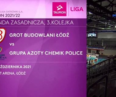 Tauron Liga. Grot Budowlani Łódź - Grupa Azoty Chemik Police 1-3. Skrót meczu. Wideo (Polsat Sport)