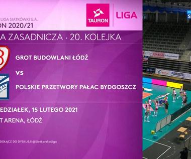 TAURON Liga. Grot Budowlani Łódź - Polskie Przetwory Pałac Bydgoszcz 1:3. Skrót meczu (POLSAT SPORT). Wideo