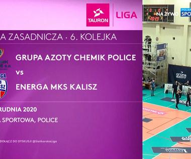 TAURON Liga. Grupa Azoty Chemik Police – Energa MKS Kalisz 3-1. Skrót meczu (POLSAT SPORT). Wideo