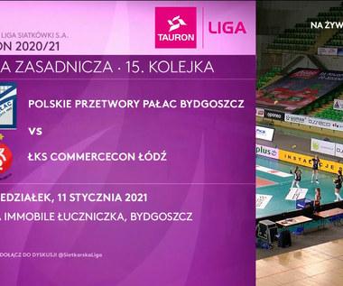 TAURON Liga. Polskie Przetwory Pałac Bydgoszcz - ŁKS Commercecon Łódź 0-3. Skrót meczu (POLSAT SPORT). Wideo