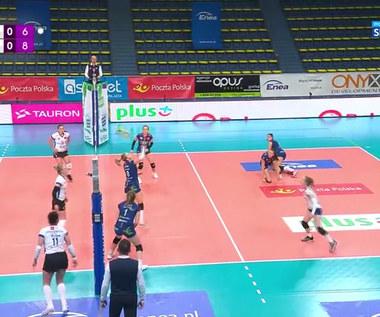 Tauron Liga. Sprytne zagranie Janiuk. Tego się nikt nie spodziewał (polsat sport). wideo