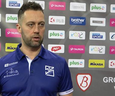 TAURON Puchar Polski. Trener Piotr Matela (Polskie Przetwory) po meczu z Grotem Budowlanymi Łódź. Wideo