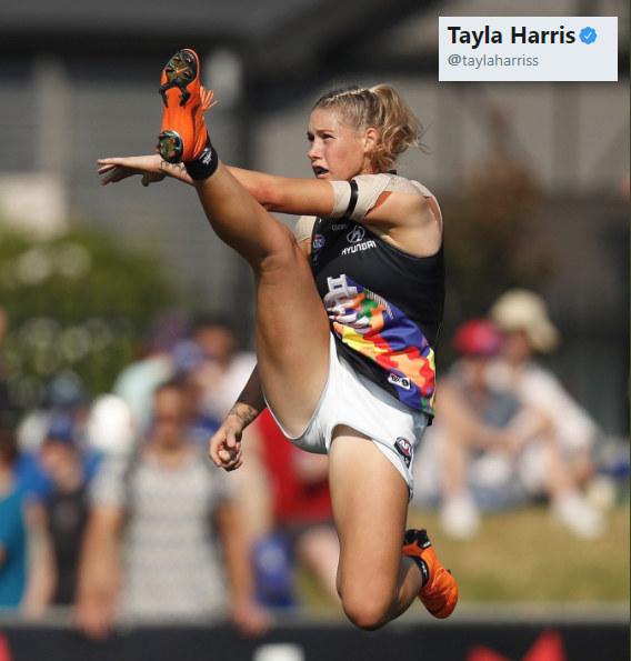Tayla Harris w akcji /Michael Willson/AFL Media /Twitter