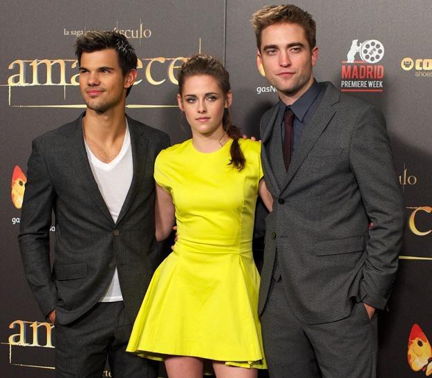 """Taylor Lautner, Kristen Stewart i Robert Pattinson, czyli największe gwiazdy """"Zmierzchu"""" /Getty Images/Flash Press Media"""