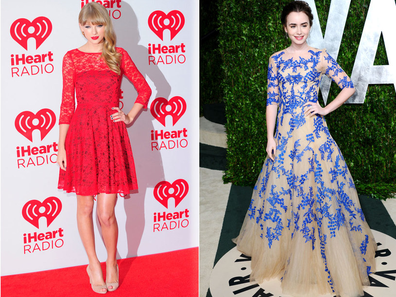 Taylor Swift i Lily Collins /Getty Images/Flash Press Media