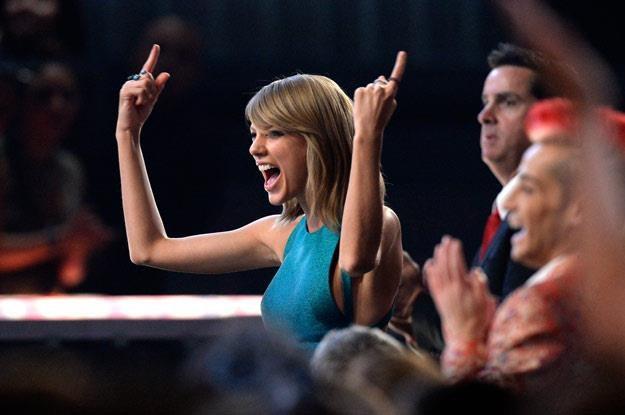 Taylor Swift szalej na gali Grammy (fot. Kevork Djansezian) /Getty Images