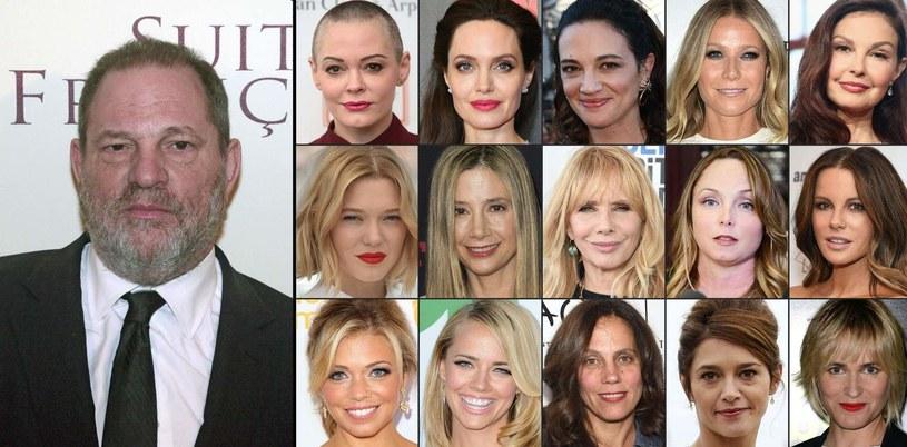 Te aktorki opowiedziały o molestownaiu seksualnym, którego doświadczyły ze strony Harveya Weinsteina /AFP