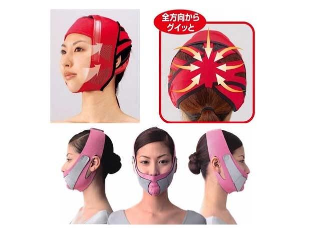 Te maski mają poprawiać kształt twarzy /INTERIA.PL/Informacja prasowa